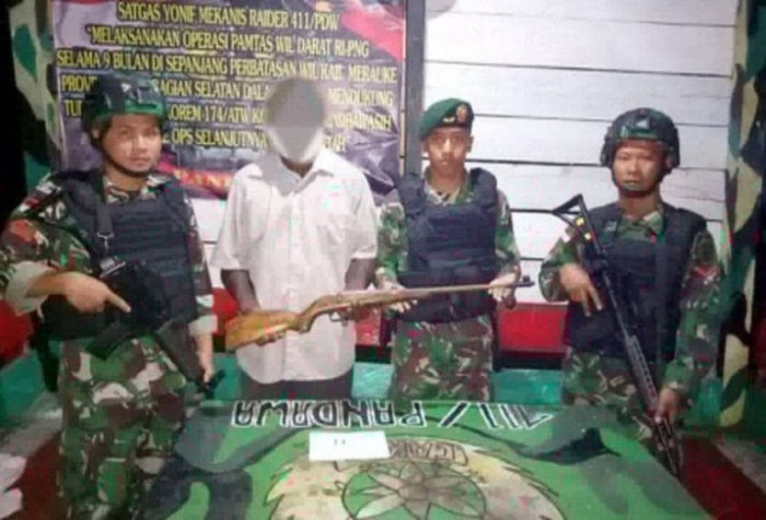 Armed Papuan criminals disruption
