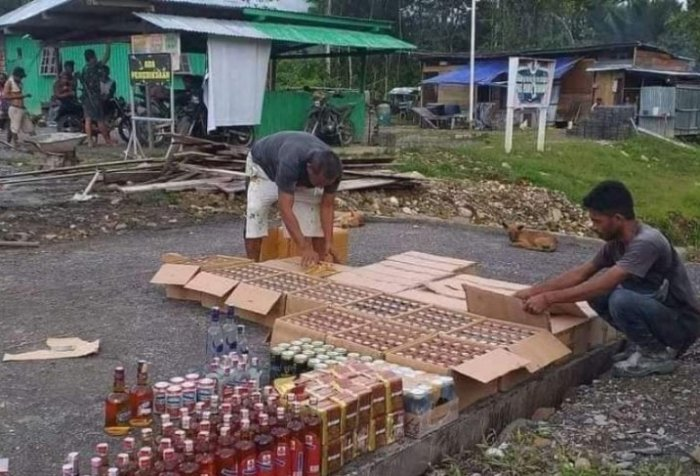 The illegal liquor consignment