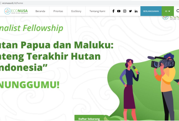 EcoNusa Foundation launched journalist fellowship on Forest issues in Papua