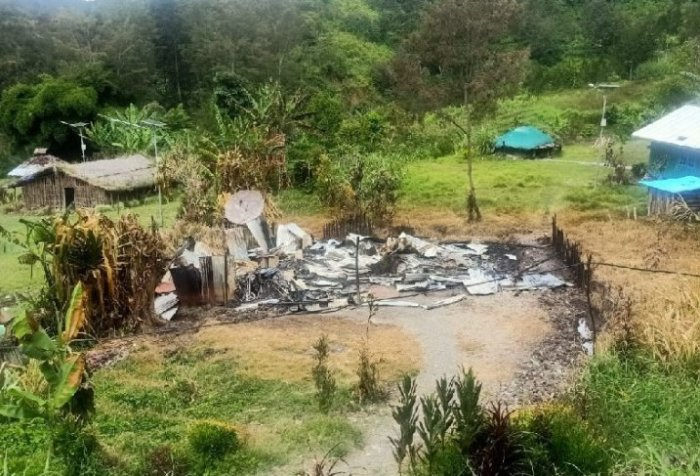 Tribe chief's house torched