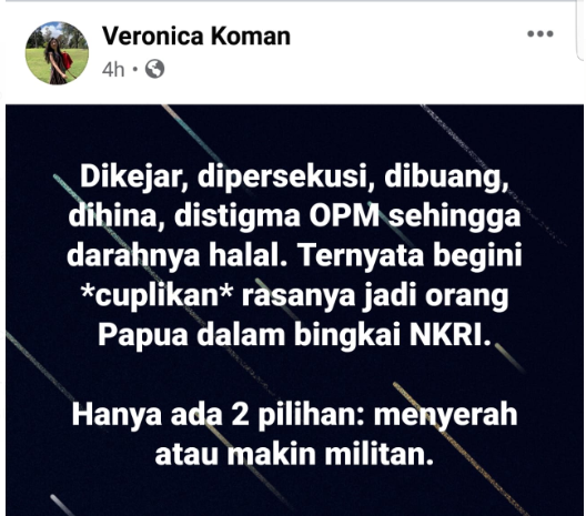 Veronica Koman Propaganda