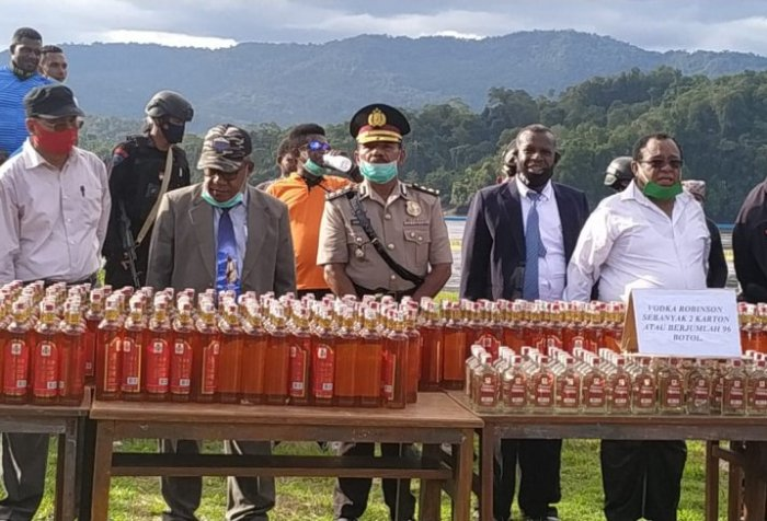 illegal alcoholic drinks in West Papua