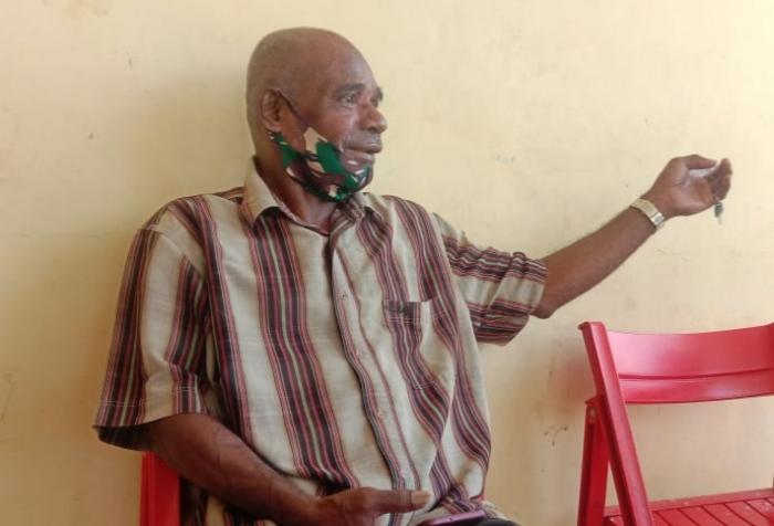 Customary Leader of Yoka Village - Titus Membri